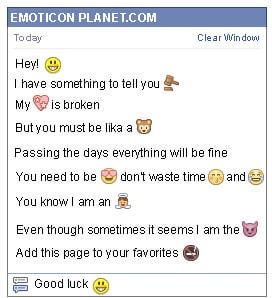 how to make smiley emoticon on facebook