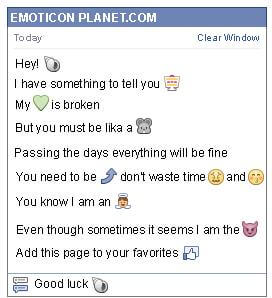 Conversation with emoticon Snail for Facebook