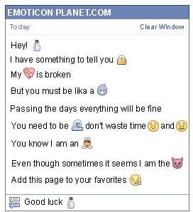 Conversation with emoticon Snowman for Facebook