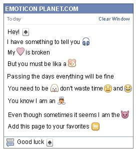 Conversation with emoticon Spades Card for Facebook
