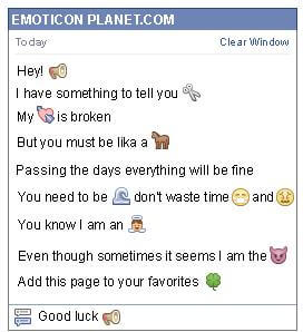 Conversation with emoticon Speaker for Facebook