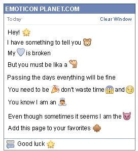 Conversation with emoticon Star for Facebook