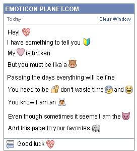 Conversation with emoticon Starry Heart for Facebook