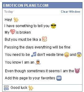 Conversation with emoticon Stars for Facebook