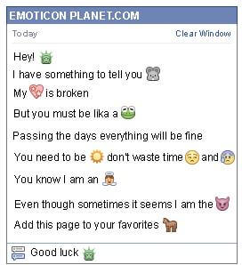 Conversation with emoticon Statue of Liberty for Facebook