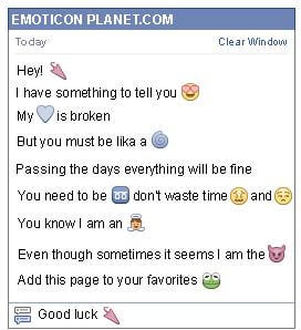 Conversation with emoticon Sun Umbrella for Facebook