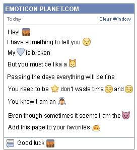 Conversation with emoticon Sunset in the City for Facebook