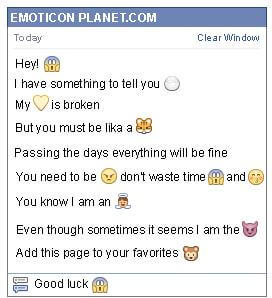 Conversation with emoticon Surprised for Facebook