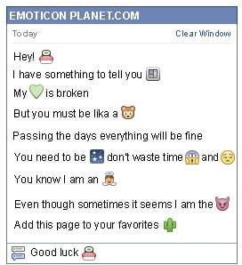 Conversation with emoticon Sushi for Facebook