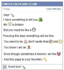 Conversation with emoticon Syringe for Facebook