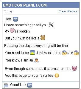 Conversation with emoticon Tape Recorder for Facebook