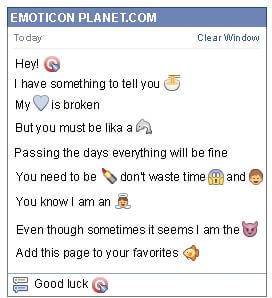 Conversation with emoticon Target Shoot for Facebook