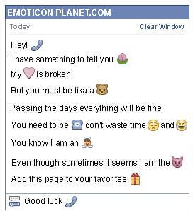 Conversation with emoticon Telephone for Facebook