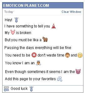 Conversation with emoticon Tie for Facebook