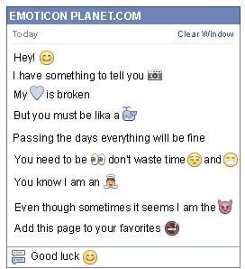 How to make To Blush Emoticon on Facebook