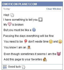 Conversation with emoticon Toilet for Facebook
