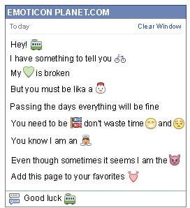 Conversation with emoticon Train Wagon for Facebook