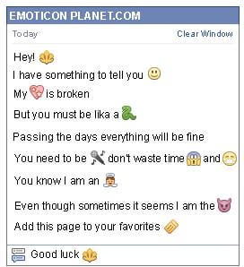 Conversation with emoticon Trident for Facebook