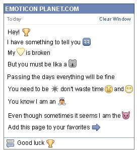 Conversation with emoticon Trophy Cup for Facebook