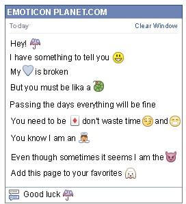Conversation with emoticon Umbrella for Facebook
