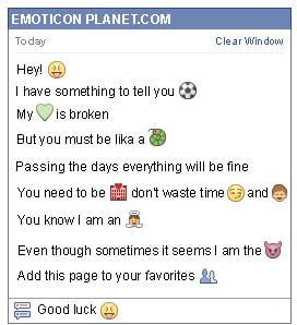 Conversation with emoticon Vomit for Facebook