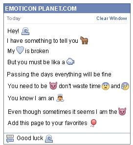 Conversation with emoticon Wave for Facebook