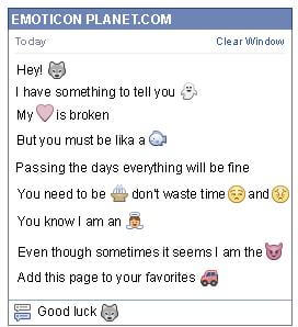 Conversation with emoticon Wolf for Facebook