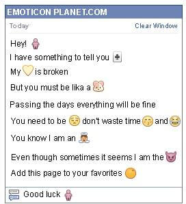 Conversation with emoticon Woman Symbol for Facebook