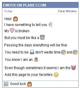 Conversation with emoticon Woman for Facebook
